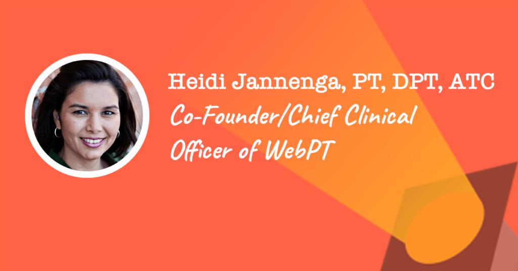 Heidi Jannenga of WebPT