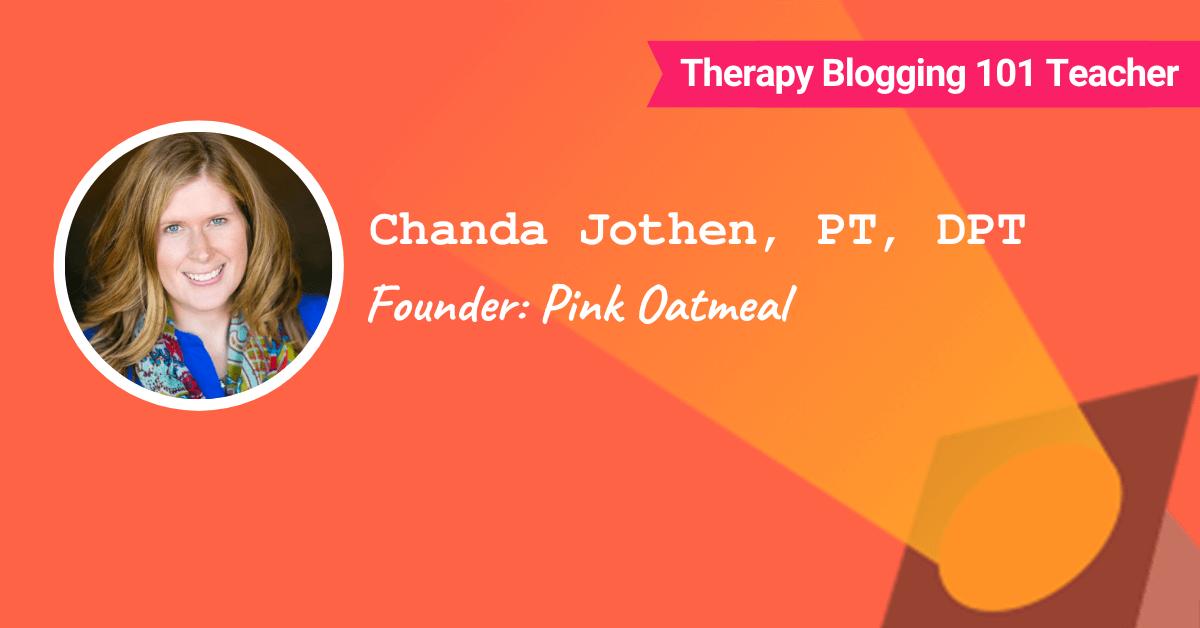 Chanda Jothen - Pink Oatmeal Founder