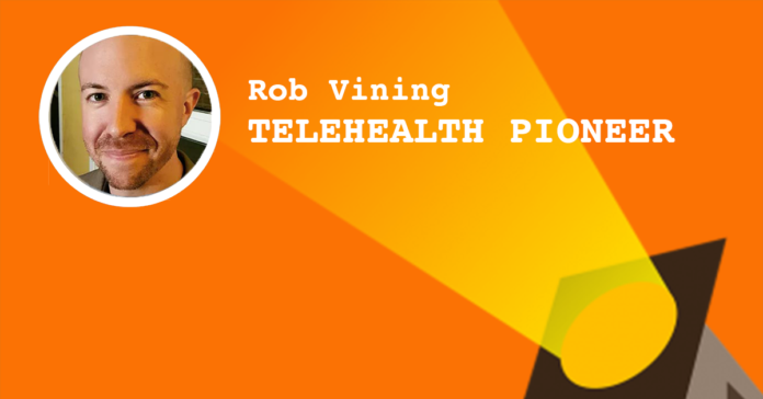 Rob Vining telehealth physical therapist and co-founder of PTlive