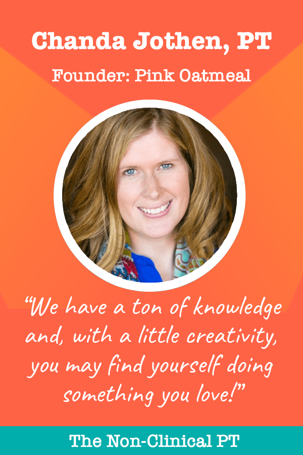 Chanda Jothen - Founder of Pink Oatmeal - Quote