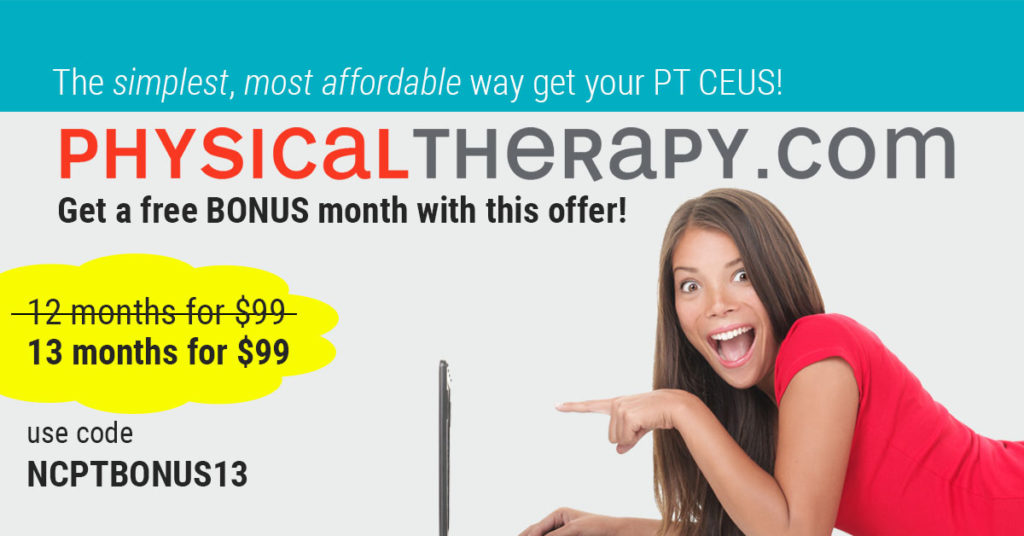 physicaltherapy.com free month