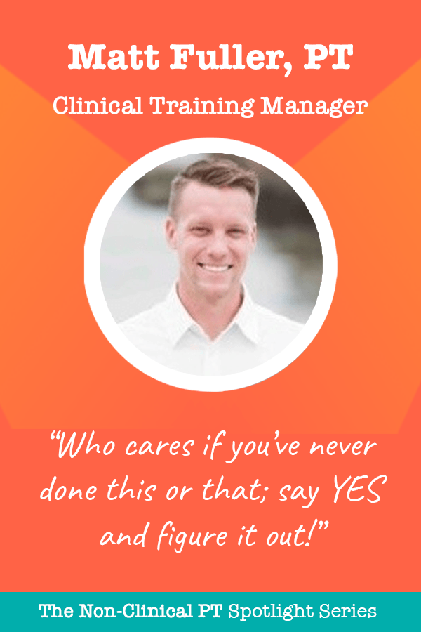 Clinical Training Manager Quote by Matt Fuller