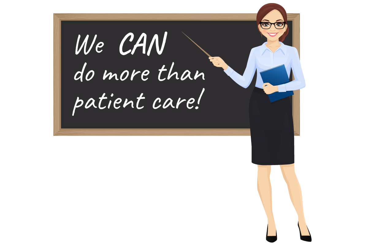 woman showing we can do more than patient care