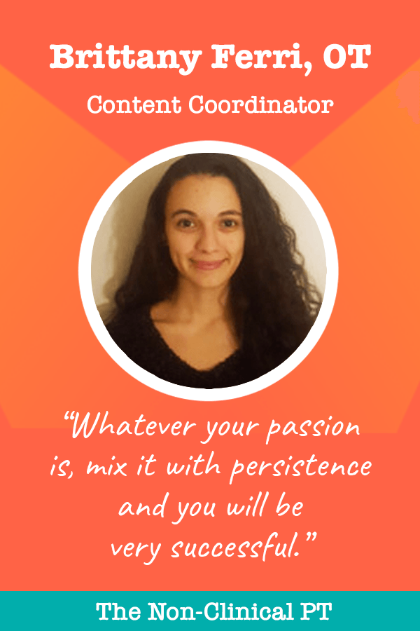 Brittany Ferri Quote about being a content coordinator