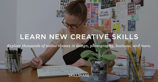 Skillshare banner for creative non-clinical courses