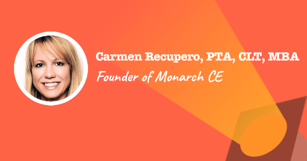 Founder of Monarch CE Carmen Recupero