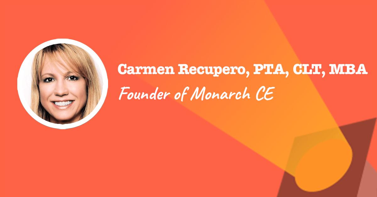 Founder of Monarch CE Carmen Recupero