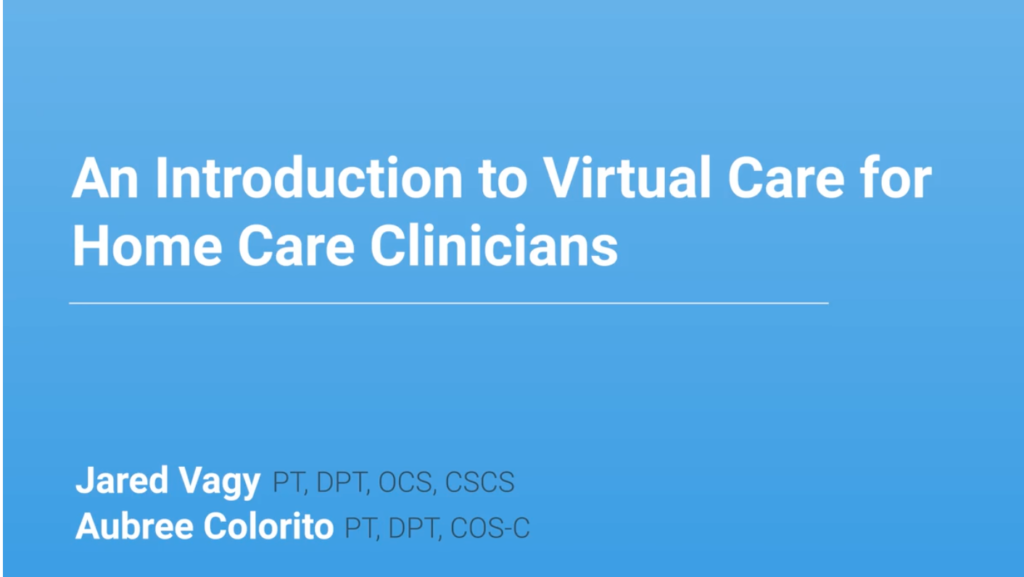 Medbridge Telehealth course taught by manager of innovation and onboarding - aubree colorito