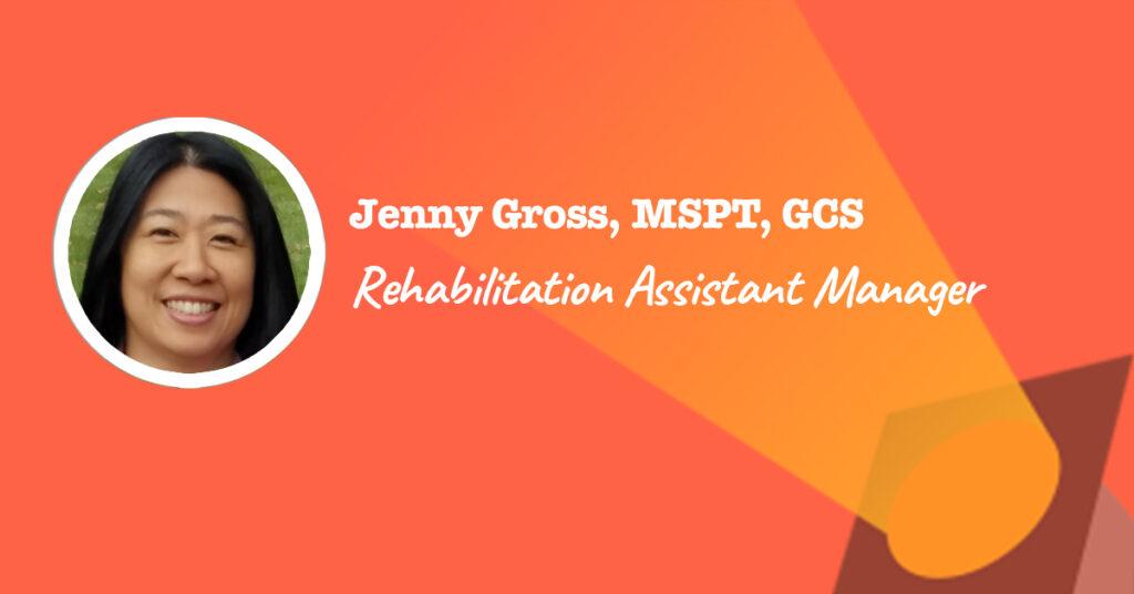 Rehabilitation Assistant Manager Jenny Gross